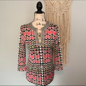 Tory Burch Silk Beaded Top